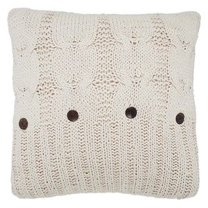 Pair (2) Micah Knitted Euro Sham pillow cover